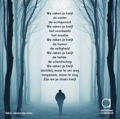 Dichtbij, maar te ver weg... Mooi gedicht, ingestuurd door Jeska de Vries. #Kwijt