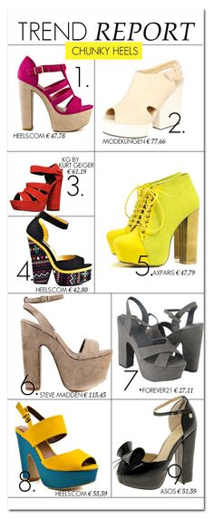 Chunky Heels. #5 is a MUST have for this year.