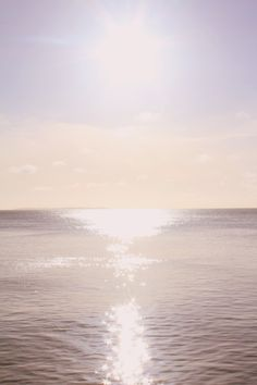 shimmering sun and sea