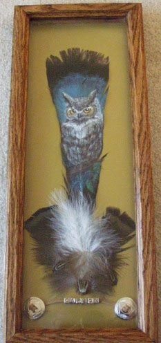 Painted Owl Feather