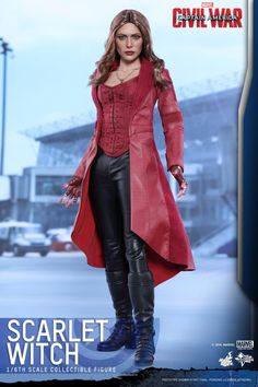 """Hot Toys Captain America: Civil War - Scarlet Witch Scale Collectible Action Figure """"I can't control their fear."""" Marvel's Captain America: Civil War has been critically acclaimed. Marvel Heroes, Marvel Characters, Marvel Avengers, Scarlet Marvel, Avengers Costumes, Captain America Civil War, Wonder Woman, Scarlet Witch, Avengers Infinity War"""