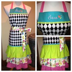 MacKenzie Childs  inspired apron I made for a customer.