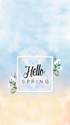 Hello Spring - Wallpaper La Vie Frenchie Blog  Spring floral wallpaper Fond d'écran fleuri pour le printemps ! Wallpaper, background, iPhone, smartphone, creation, blogging, blog