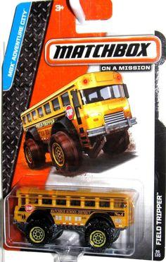 Road Tripper School Bus Matchbox 2014 MBX Adventure City #96/120 MBX SCHOOL DIST #Matchbox #MATCHBOX