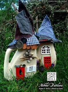 Recycled detergent bottle fairy houses - Nichola Battilana