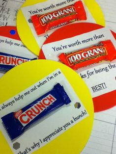 Inexpensive Gifts for Coworkers candy grams Employee Appreciation Gifts, Volunteer Appreciation, Teacher Appreciation Week, Volunteer Gifts, Employee Gifts, Employee Rewards, Staff Gifts, Gag Gifts, Teacher Gifts
