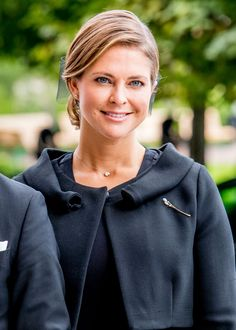 Princess Madeleine of Sweden attends the church service at the St. Nicholas church in connection with the opening session of the Swedish parliament on 12 September 2017