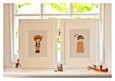 Cowboy Nursery Decor, Cowboys and Indians, American Indian Picture, Nursery Art, Nursery Decor,Boys Christening Gift Boys, Cowboy Nursery. £40.00, via Etsy.