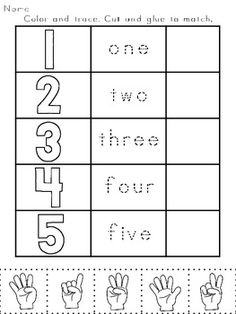 Numbers Printables: Counting & Cardinality Practice for Kindergarten Numbers Preschool, Learning Numbers, Math Numbers, Preschool Kindergarten, Preschool Worksheets, Preschool Learning, Teaching Math, Preschool Activities, Maths