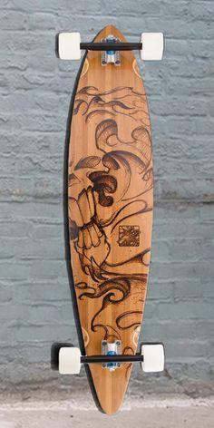 "Longboards USA - Bamboo Grimm Reaper Trurute 44"" Pintail Longboard, $166.00 (http://longboardsusa.com/bamboo-grimm-reaper-trurute-44-pintail-longboard/)"