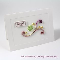 quilling card idea - easy