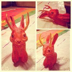 Hello Jackalope!  This one is by Anna Holland, who starts Fall 2014.