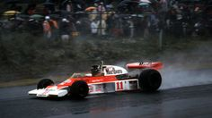 James Simon Wallis Hunt (GBR) (Marlboro Team McLaren), McLaren M23 - Ford-Cosworth DFV 3.0 V8 (finished 3rd)  1976 Japanese Grand Prix, Fuji Speedway