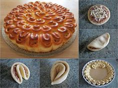 Imagen de food, diy, and pastry Bread Recipes, Baking Recipes, Good Food, Yummy Food, Cupcakes, How To Make Bread, What To Cook, Food Design, Diy Food