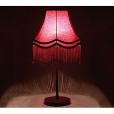 Fluoro Fringe Purple and Shocking Pink Table Lamp to romance your French Bedroom!
