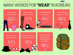 There are many words for 'Wear' in Korean #learnkorean #polyglot #bilingual #koreanlanguage