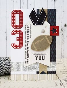 We Believe In You Card by Melissa Phillips for Papertrey Ink (April 2014)