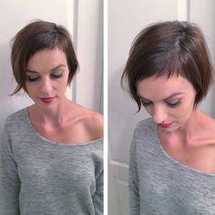 "Gefällt 2,317 Mal, 13 Kommentare - Short Hairstyles Pixie Cut (@nothingbutpixies) auf Instagram: ""Baby bangs by @dillahajhair on Mrs Dillaha,"""