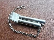 Vintage Metal Double Tone Train or Boat Acme  Whistle with chain