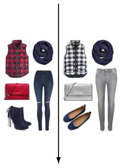 """""""Red, blue, grey, white outfit for friends"""" by courtneydodson on Polyvore featuring J.Crew, BP., George, Schutz, Michael Kors and MICHAEL Michael Kors"""