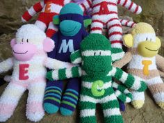 Monogram patch for sock monkeys by socksandmonkeyhugs on Etsy, $5.00