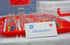 If there is ever a nurse/medical themed party, this will give me some great ideas