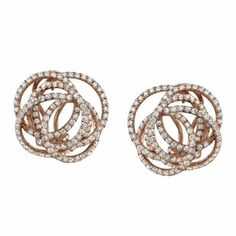Enlaced Diamond Pave Earrings