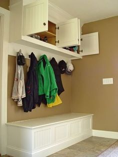 mud rooms in the kitchen | Mud Room Bench