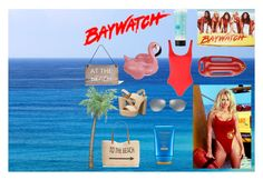"""""""Baywatch"""" by alex-jparsons ❤ liked on Polyvore featuring Solid & Striped, Ray-Ban, Style & Co., Shiseido, Michael Kors, Garden Trading, Sunnylife and St. Tropez"""