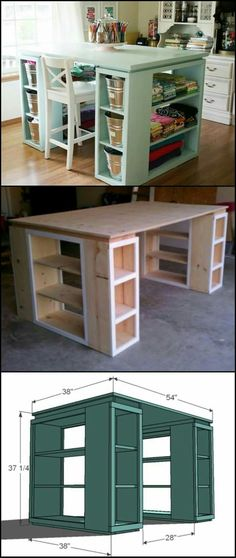 Crafts table with storage!