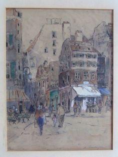 Clement van Vlaardingen 1916-1972 Stadsgezicht @Parijs Techniek: gemengd http://www.plepsart.nl