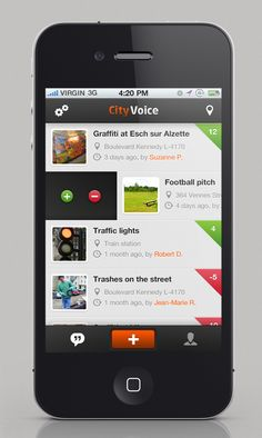 Listview by Cédric Charles #ui #mobile