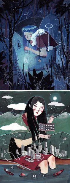 Surreal illustrations by Julia Iredale
