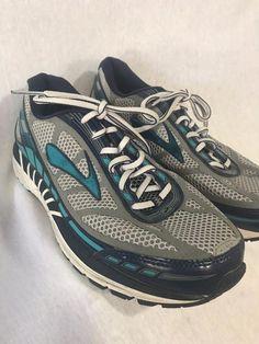 696e8dad006 Brooks Dyad 8 Women s Running Shoes 9 D 1201631D051 RiverRock BlueBird  Peacoat  fashion  clothing