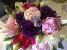 Pinks, purples and whites