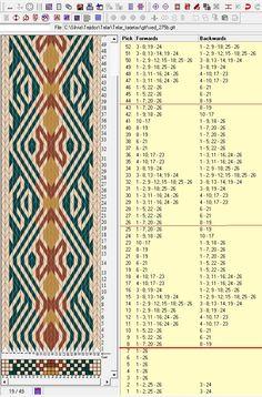 26 tarjetas, 4 colores, repite cada 18 movimientos // sed_275b diseñado en GTT༺❁