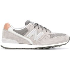 New Balance 996 Sneakers (£66) ❤ liked on Polyvore featuring shoes, sneakers, grey, gray sneakers, new balance trainers, suede sneakers, grey sneakers and gray suede shoes