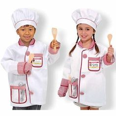 Have you're little ones help you in the kitchen this holiday season with these adorable Melissa & Doug Chef Role Play Costume Sets!