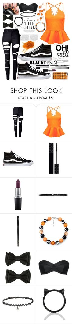 """""""Halloween"""" by robinstill68 ❤ liked on Polyvore featuring Kershaw, WithChic, Boohoo, Vans, Gucci, MAC Cosmetics, Charlotte Russe, INIKA, L'Agent By Agent Provocateur and BERRICLE"""