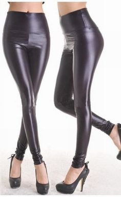 What type of pure imitation leather black romantic tights nine slim stovepipe Siamese tights 7748-2