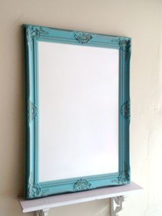 Decorative WHITEBOARD Dry Erase Board...Beautiful Vintage Inspired Frame  Turned Magnetic Dry Erase