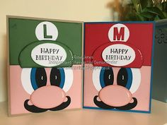 Hey there and welcome back...   Today I have a couple of Super Mario cards to share, I have a Mario Birthday Card and a Luigi Birthday Card....
