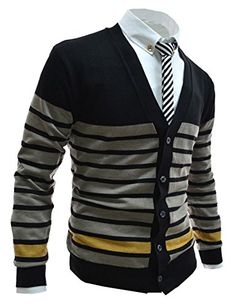 Latest Korean fashion sweaters for men. Knit Fashion, Sweater Fashion, Mens Fashion, Gents Sweater, Casual Tops, Men Casual, Mens Clothing Styles, Shirt Jacket, Korean Fashion