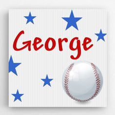 More - Personalized Baseball Kids Canvas Sign. Personalized Baseball Kids Canvas SignDETAILS: This is a perfect gift for your child to have in their room. Personalised Canvas, Personalized Signs, Kids Canvas Art, Wall Canvas, Wall Art, Childrens Gifts, Gifts For Kids, Baseball Canvas, Baseball Kids