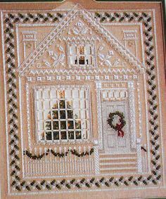 Patricia Andrle CHRISTMAS HOUSE Sampler 3D by ThePamperedStitcher