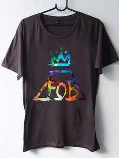 High Quality DTG Printed shirt Fall Out Boy FOB galaxy nebula,Funny shirt Mens and Woman Size Available by BosBandungan