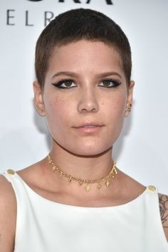Halsey Buzzcut - Halsey rocked this buzzcut at the Billboard Women in Music 2016.