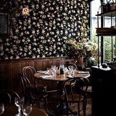 Hotel Providence in Paris. Love the wallpaper. #interiordesign