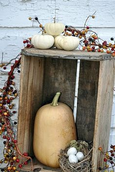 Fun Fall Decor.  Have the crates, just need the pumpkins.