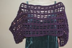 Purple Shrug, Crochet Bolero, Purple Vest, Crochet Pink Sweater, Plus Size Capelet, Womens Sweater, Womans Pink Sweater, Cropped Vest